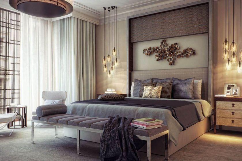 Ліжко в інтер'єрі спальні: сучасна модель