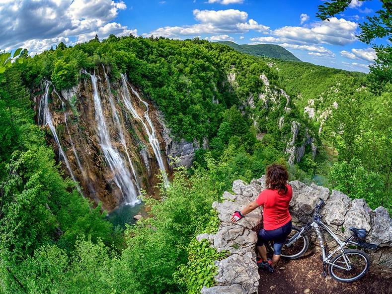 Пейзаж путешествие на велосипеде