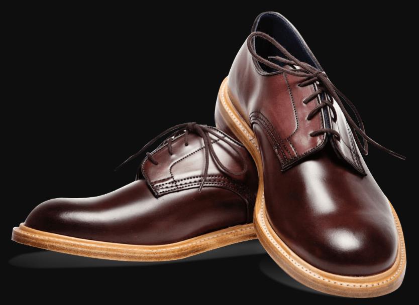Реставрация обуви - мужские туфли