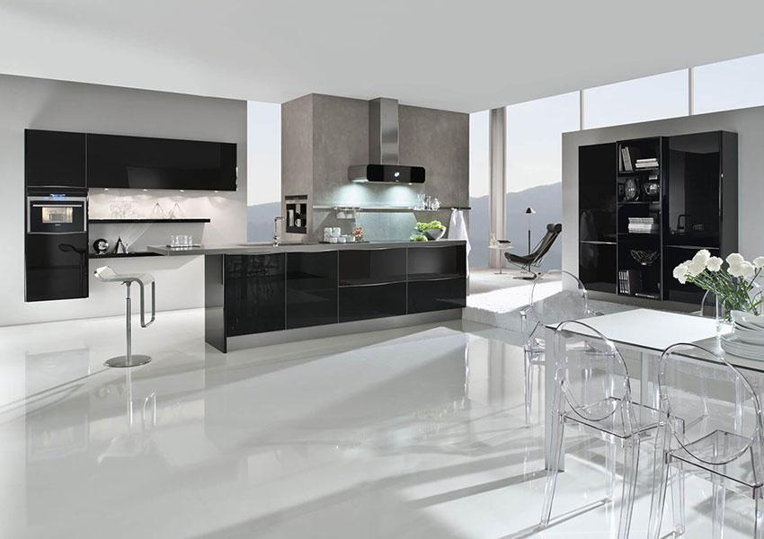 сучасні кухонні меблі в інтер'єрі