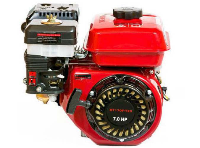Пример качественного бензинового двигателя для мотоблока (WEIMA BT170F-T/20: под шлиц и вал 20 мм)