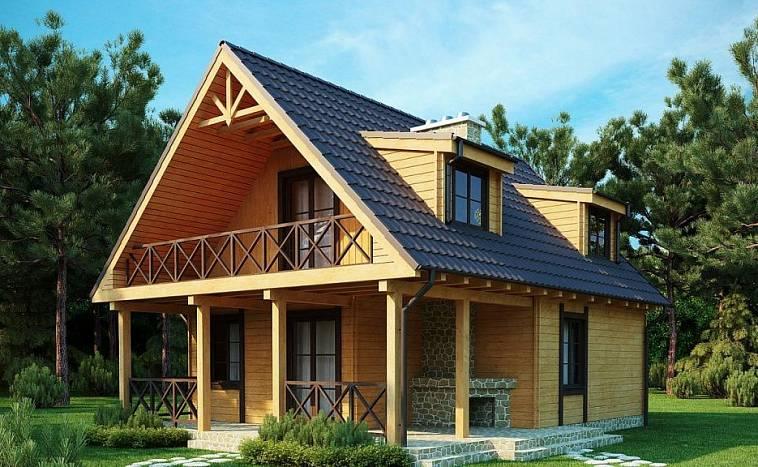 Зовнішній вигляд будинку з мансардою