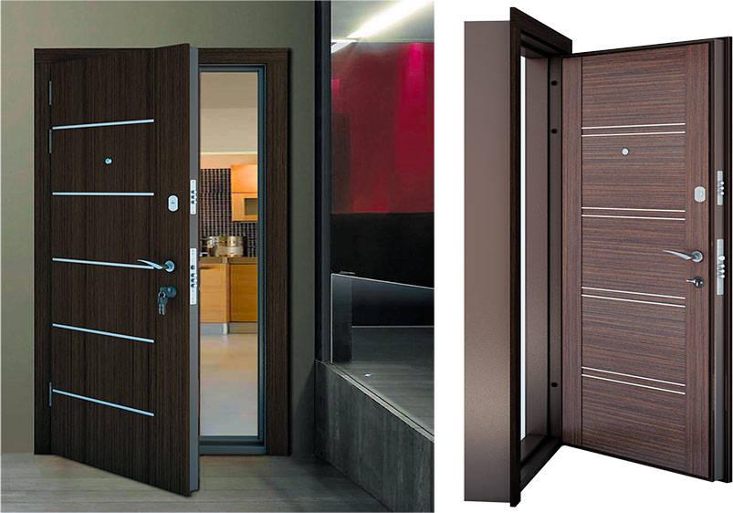 Современные металлические двери в интерьере