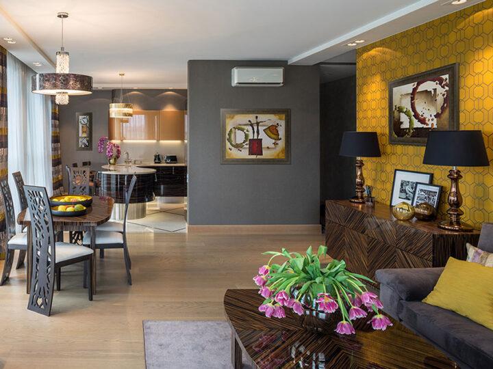 Дизайн интерьера гостиной в этническом стиле