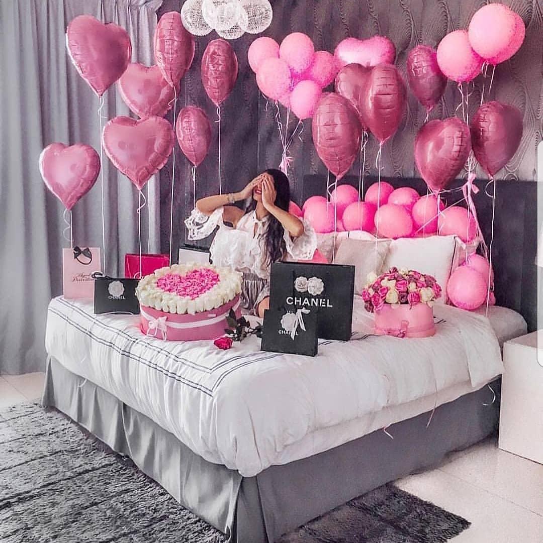 Гелиевые воздушные шары на день рождения девушке – подарок