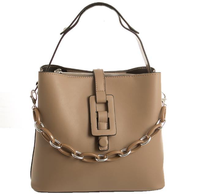 Женская сумка через плечо бежевого цвета для повседневного ношения