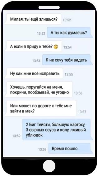 Діалог Вконтакте з дівчиною