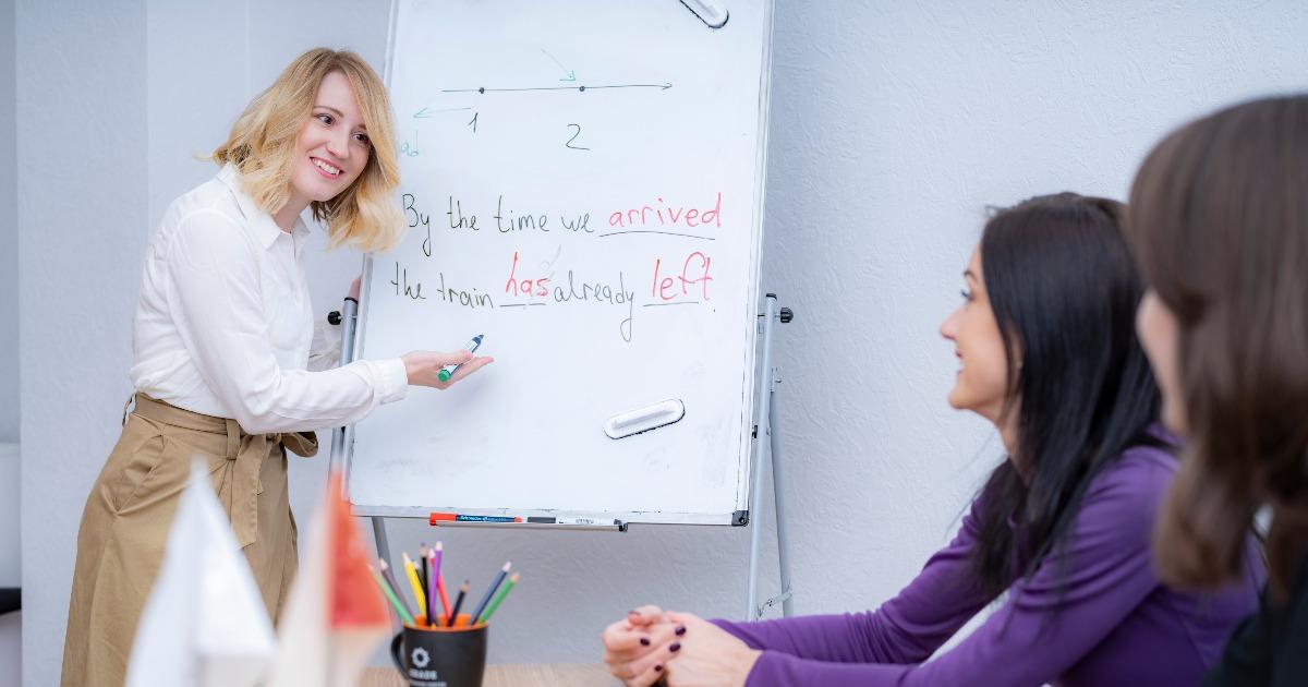 Обучение английскому языку (фото: неправильные глаголы) – применение современной методики преподавания в grade.ua