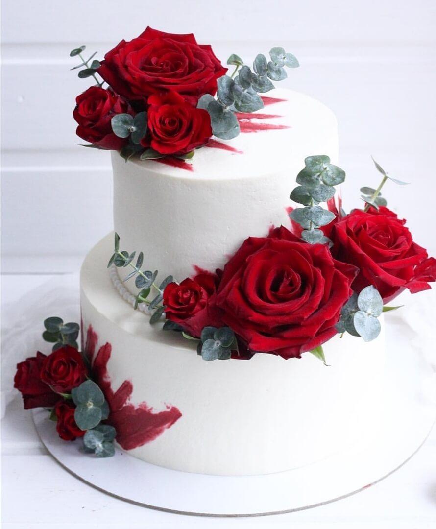 Торт на заказ «Алые розы»